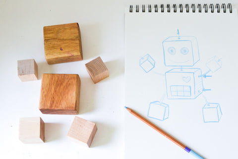 DIY Wood Robot Toy
