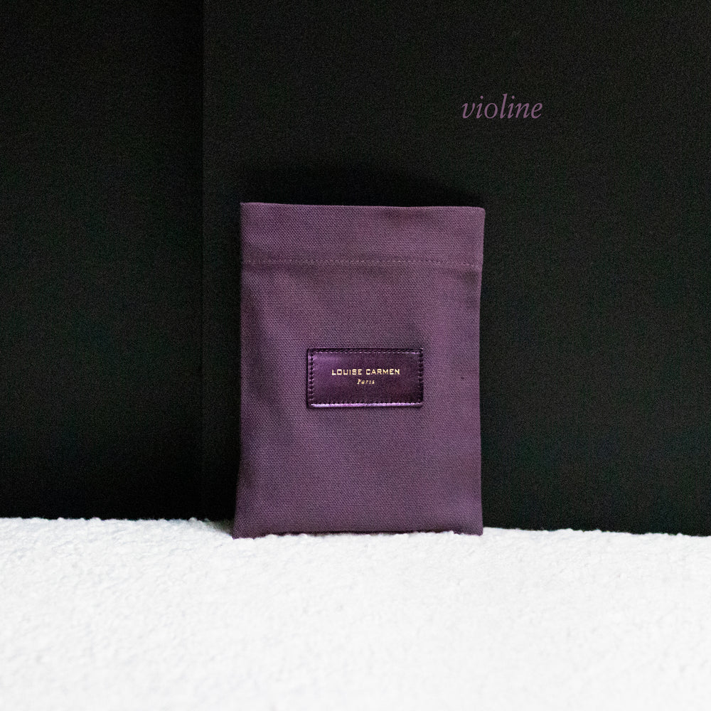 Pocket en cuir glycine vernis