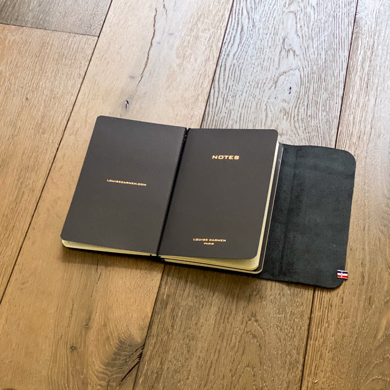 Roadbook en cuir métal gold