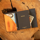 Pocket organizer cuir orange