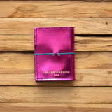 <transcy>Mini CB in magenta metallic leather</transcy>