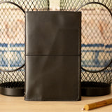<transcy>Black premium leather organizer</transcy>