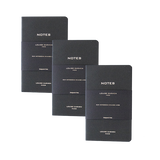 Lot de 3 carnets papier format pocket