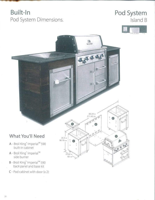 BROIL KING IMPERIAL 590 BUILT-IN CABINET