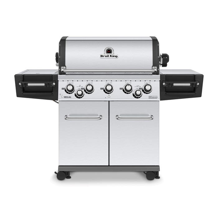 BROIL KING REGAL S590 PRO IR with Infrared Side Burner, Rear Rotisserie Burner, and Rotisserie Kit
