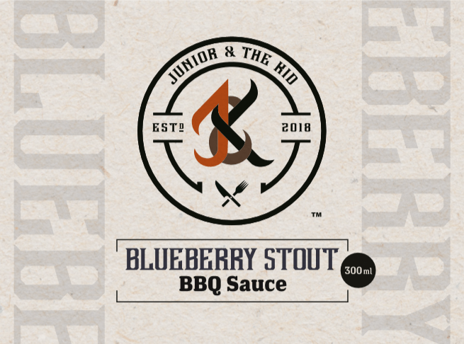 Junior & The Kid BBQ Sauce - Blueberry Stout (300ml)