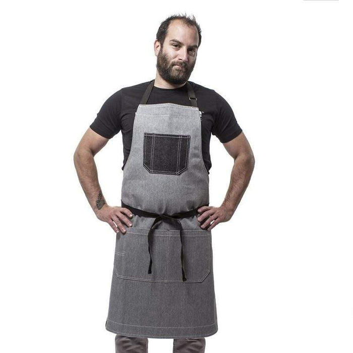 Medium Rare Boss Bib Apron Grey (Small)