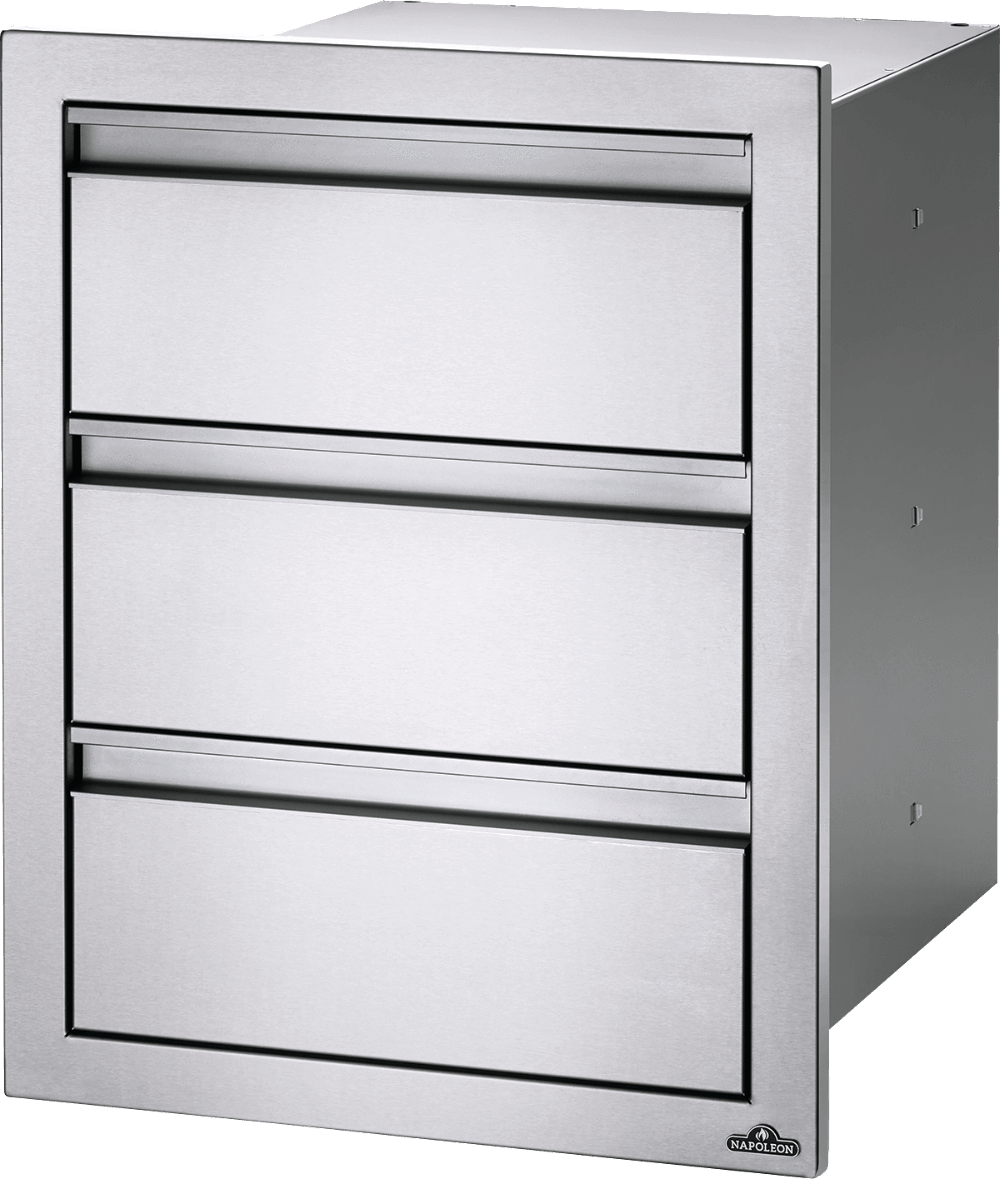 "Napoleon Built-In 18"" X 24"" Triple Drawer BI-1824-3DR BI-1824-3DR"