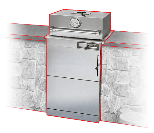 Pacific Cooker - Built-In Stainless Steel Kamado Charcoal Grill - PGFS