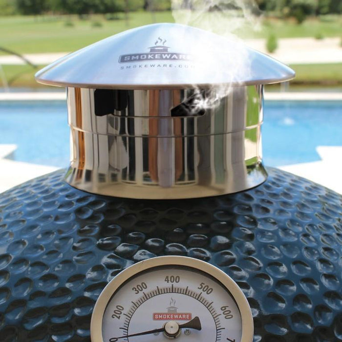 smokeware Big Green Egg Chimney Cap Damper - Stainless