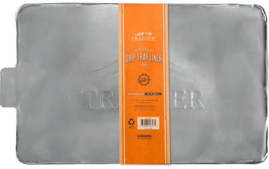 Traeger Drip Tray Liner - 5 Pack - 20 Series(Tailgater/Bronson/junior)