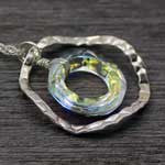 aurora borealis cosmic pendant necklace