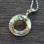 aurora borealis cosmic ring pendant necklace