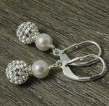 Swarovski pearl sparkling earrings