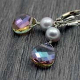 two tiered earrings - purple haze