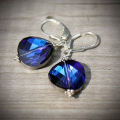 bermuda blue coin earrings