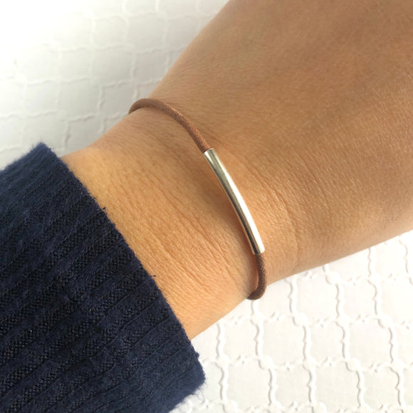 Minimalist Leather Bracelet