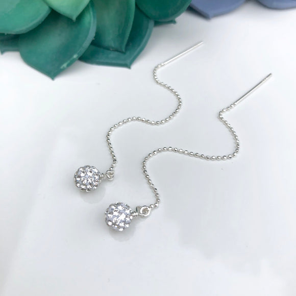 Sparkling threader earrings