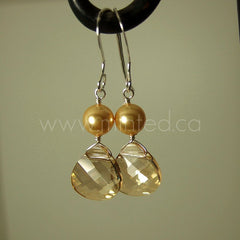 two tiered earrings - champagne