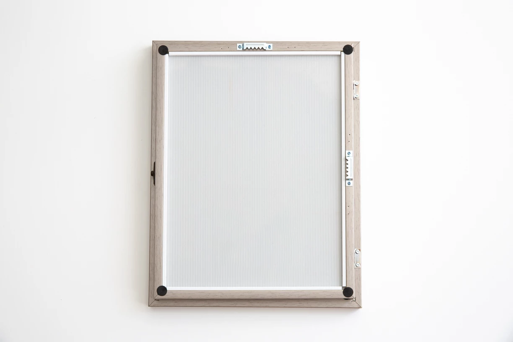 Front Opening Picture Frame with a Magnetic Whiteboard inside- Grey