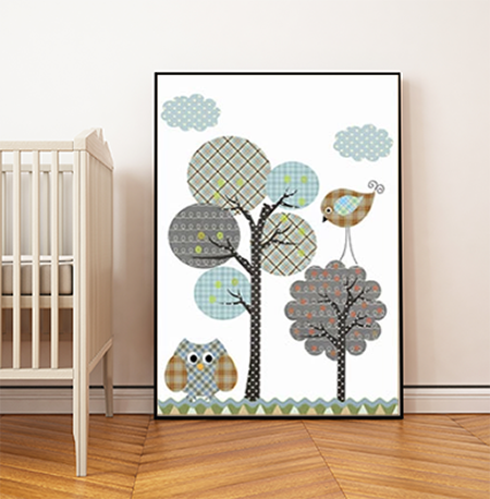 Nordic Zoo Canvas Print – Friendly birds
