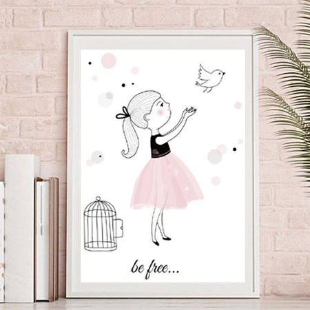 Tutu Canvas Print– Mia be free
