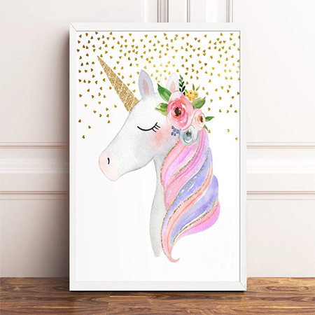 Enchanting Unicorn Canvas Print- Yasmin