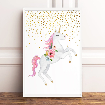 Enchanting Unicorn Canvas Print - Selena