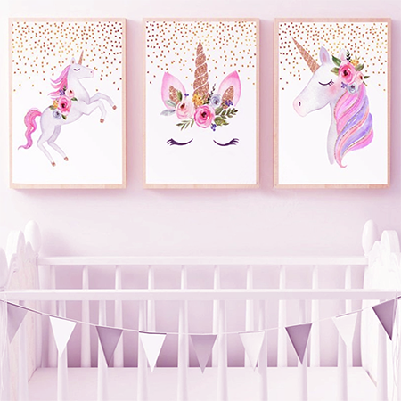 Enchanting Unicorn Canvas Print - Brielle