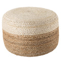 Oliana Pouf in # color_White/Beige