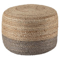 Oliana Pouf in # color_Light Gray/Beige