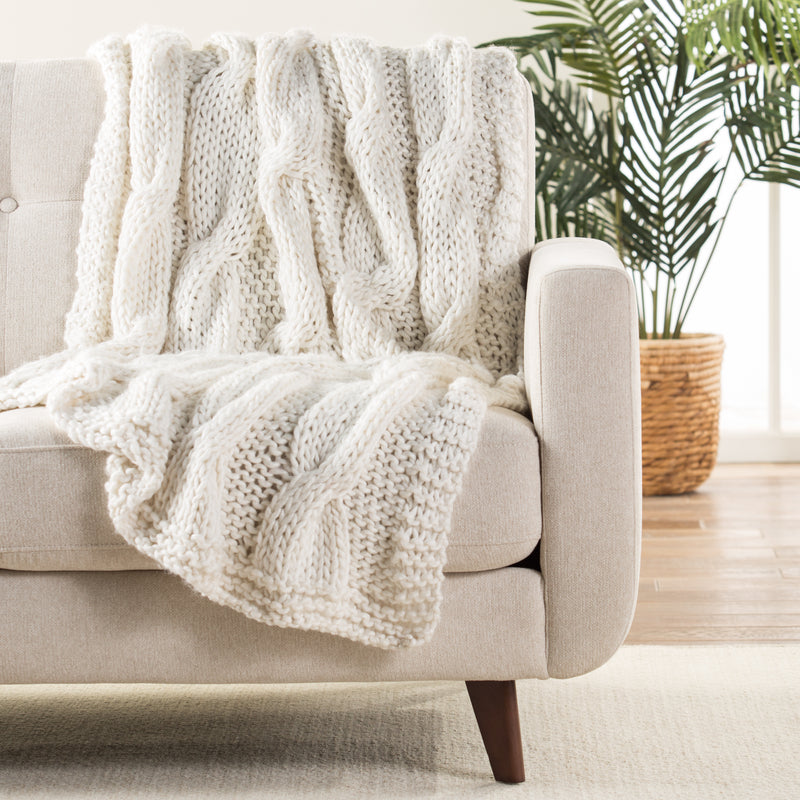 Koen Wool Blend Throw Blanket