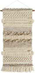 Artifice Wall Hanging by Surya in Cream, Ivory, Tan color # Cream, Ivory, Tan