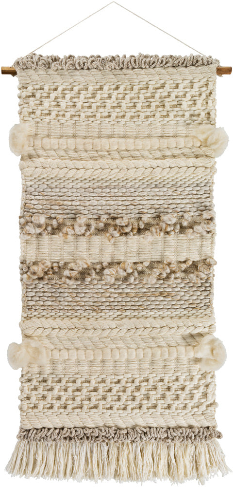 Artifice Wall Hanging by Surya in Cream, Ivory, Tan color