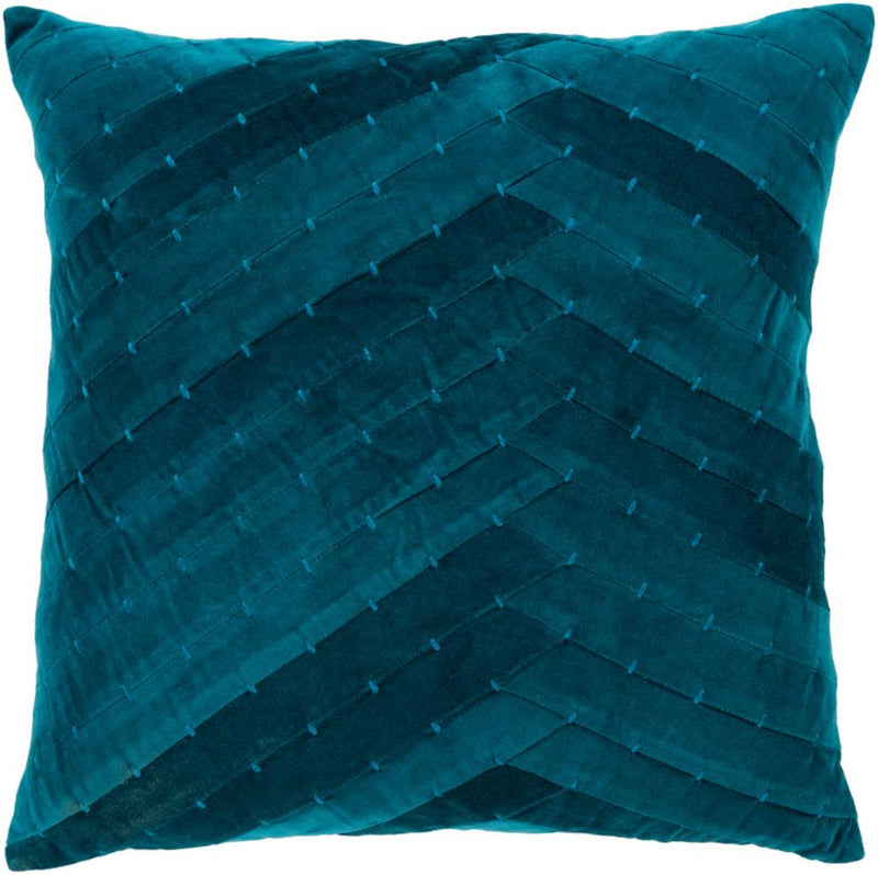 Surya Aviana Throw Pillow in Teal