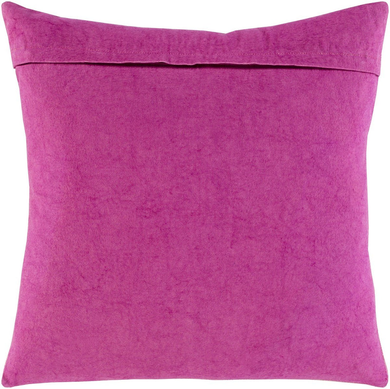 Surya Boteh Throw Pillow in Bright Pink