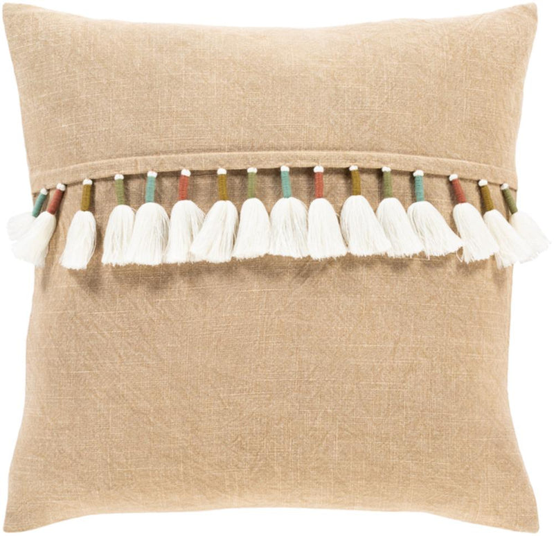 Surya Byron Bay Throw Pillow in Clay