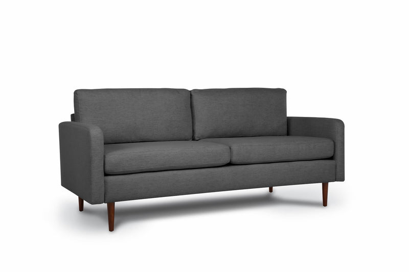 Bundle Sofa in Steel Grey with 2 X 2 Cushion Arrangement and Straight arms