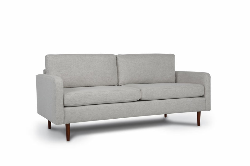 Bundle Sofa in Light Grey with 2 X 2 Cushion Arrangement and Straight arms