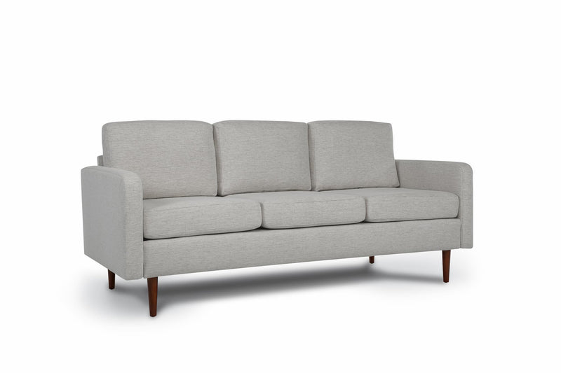 Bundle Sofa in Light Grey with 3 X 3 Cushion Arrangement and Straight arms