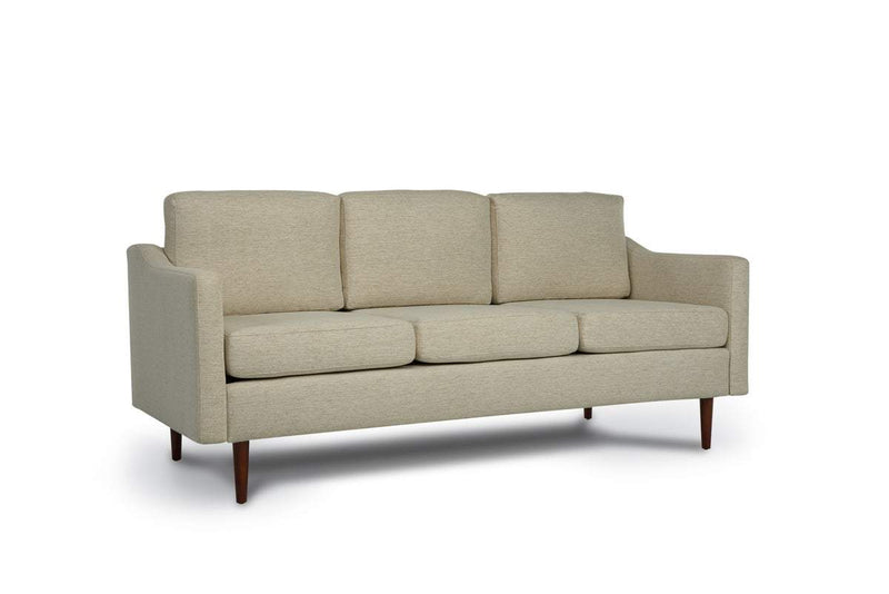 Bundle Sofa in Sand Beige with 3 X 3 Cushion Arrangement and Sloped arms