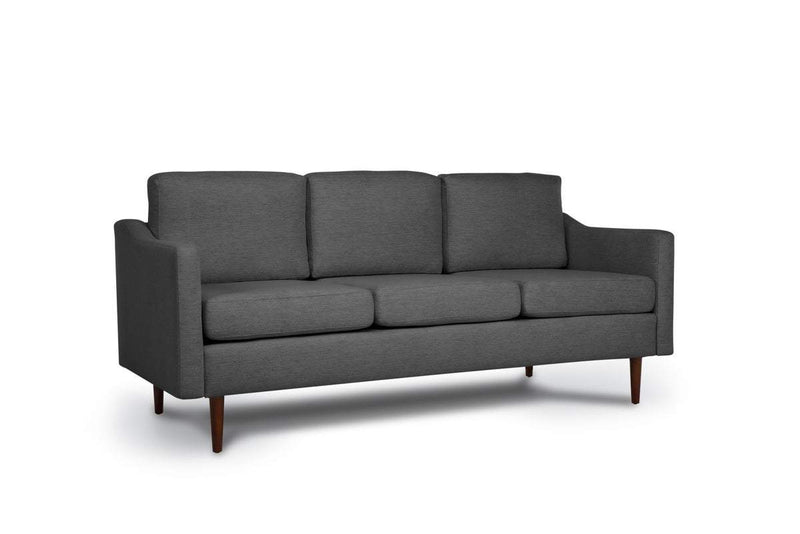 Bundle Sofa in Steel Grey with 3 X 3 Cushion Arrangement and Sloped arms