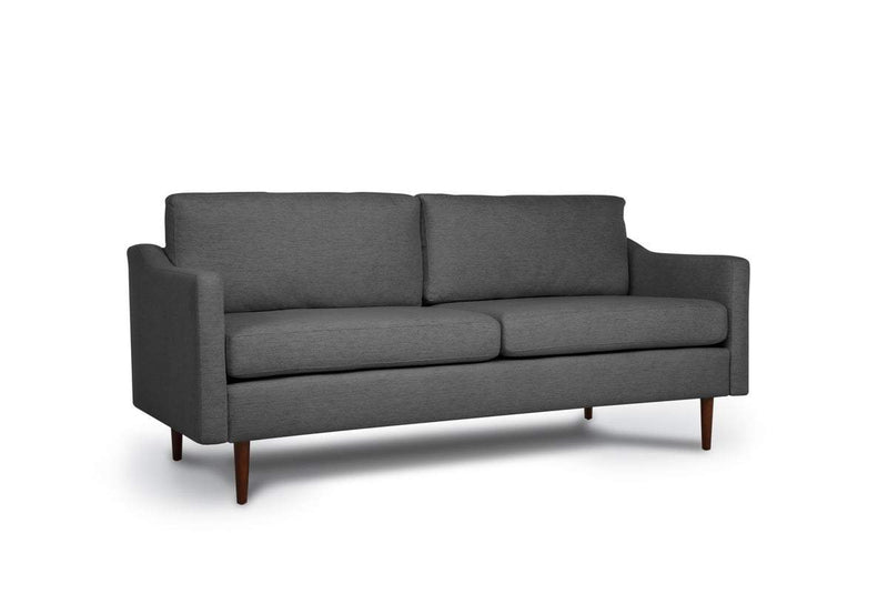 Bundle Sofa in Steel Grey with 2 X 2 Cushion Arrangement and Sloped arms