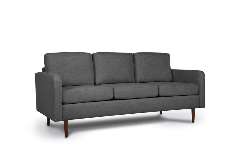 Bundle Sofa in Steel Grey with 3 X 3 Cushion Arrangement and Straight arms