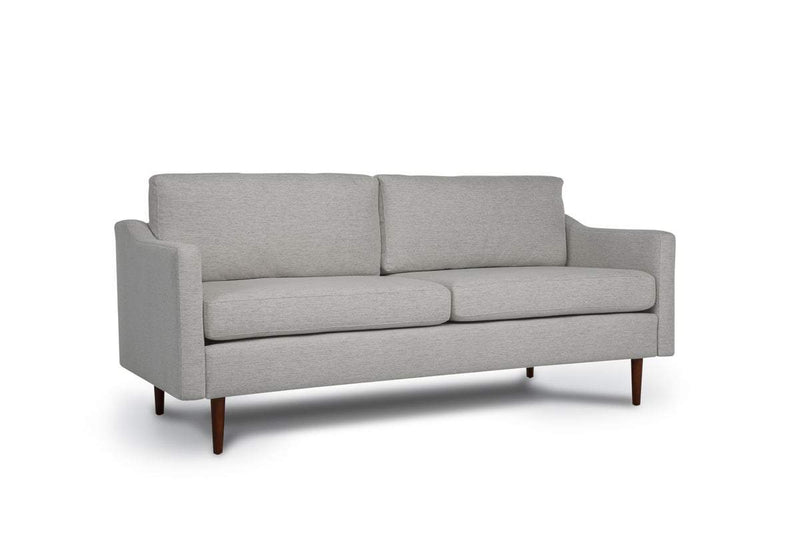 Bundle Sofa in Light Grey with 2 X 2 Cushion Arrangement and Sloped arms