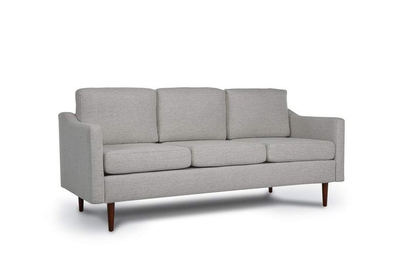 Bundle Sofa in Light Grey with 3 X 3 Cushion Arrangement and Sloped arms
