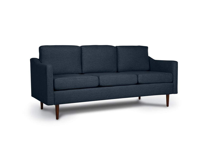 Bundle Sofa in Indigo with 3 X 3 Cushion Arrangement and Sloped arms