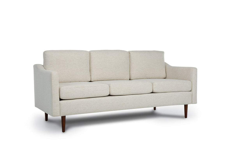 Bundle Sofa in Snow with 3 X 3 Cushion Arrangement and Sloped arms