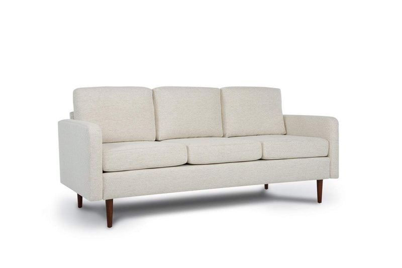 Bundle Sofa in Snow with 3 X 3 Cushion Arrangement and Straight arms
