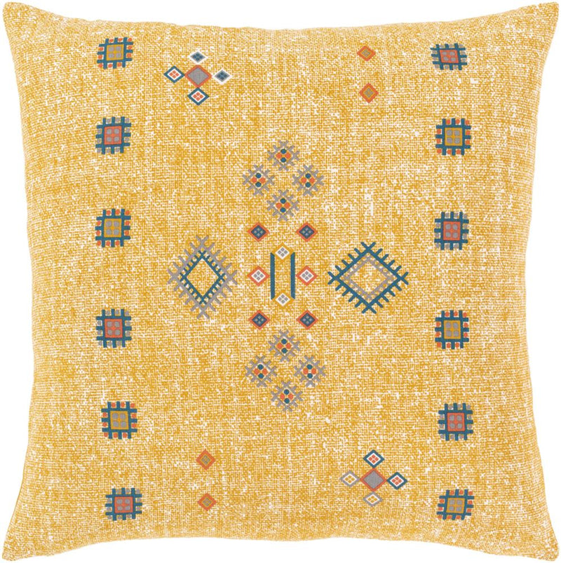 Surya Cactus Silk Throw Pillow in Denim